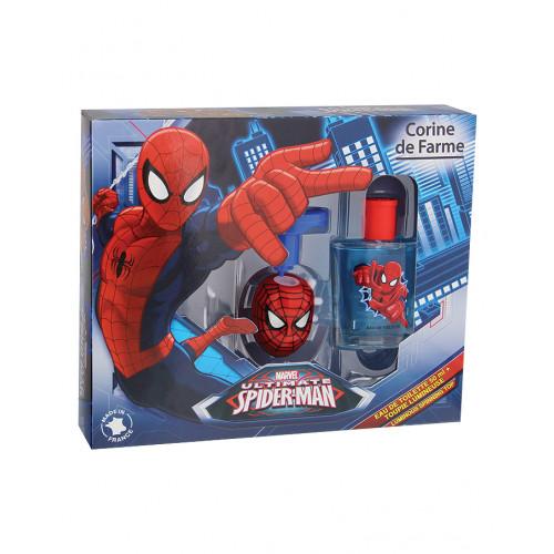 Coffret Eau de toilette Spiderman et sa toupie lumineuse